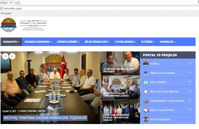 ALTSO'NUN WEB SİTESİ YENİLENDİ