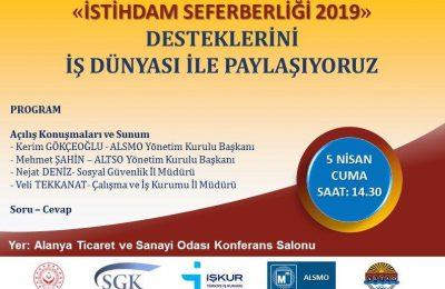 (Turkish) İSTİHDAM SEFERBERLİĞİ ALTSO'DA ANLATILACAK